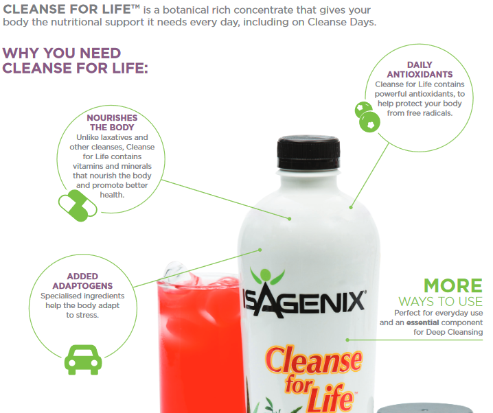 Cleanse for Life Benefits