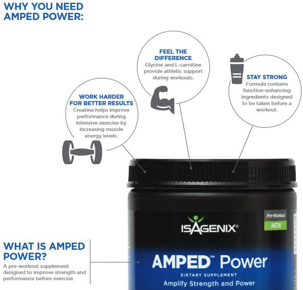 Benefits of Isagenix AMPED Power