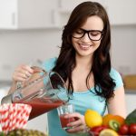 Girl drink Detox Diet