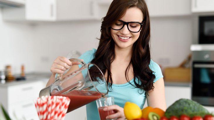 Girl drink Detox Diet