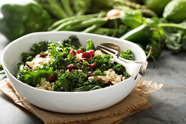 Healthy kale and quinoa salad
